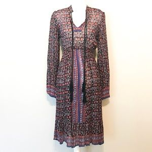 ASOS long sleeve floral boho maxi dress